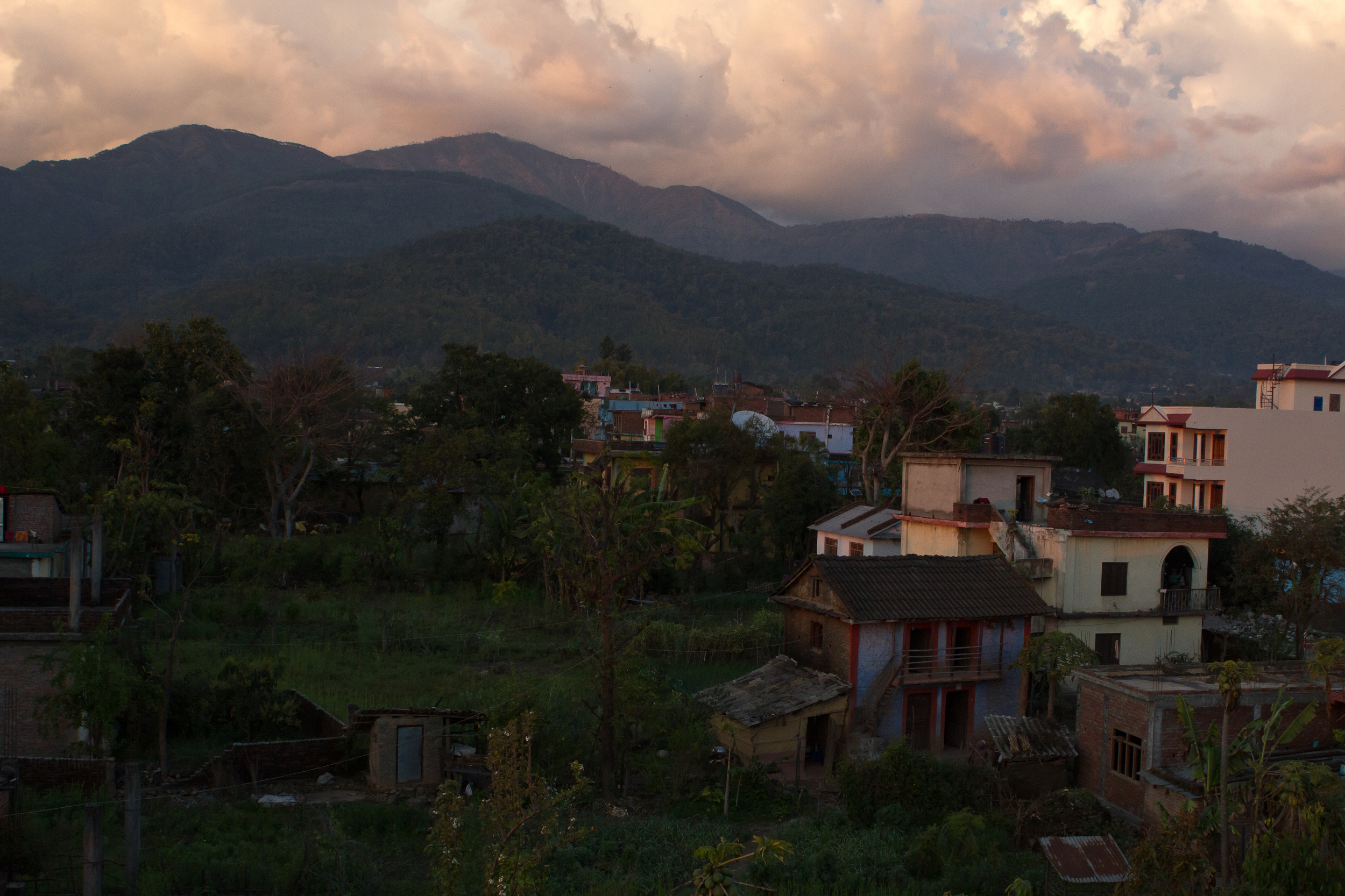 A view of Surkhet, Nepal, home of She's the First's partner school. (photo by Kate Lord)