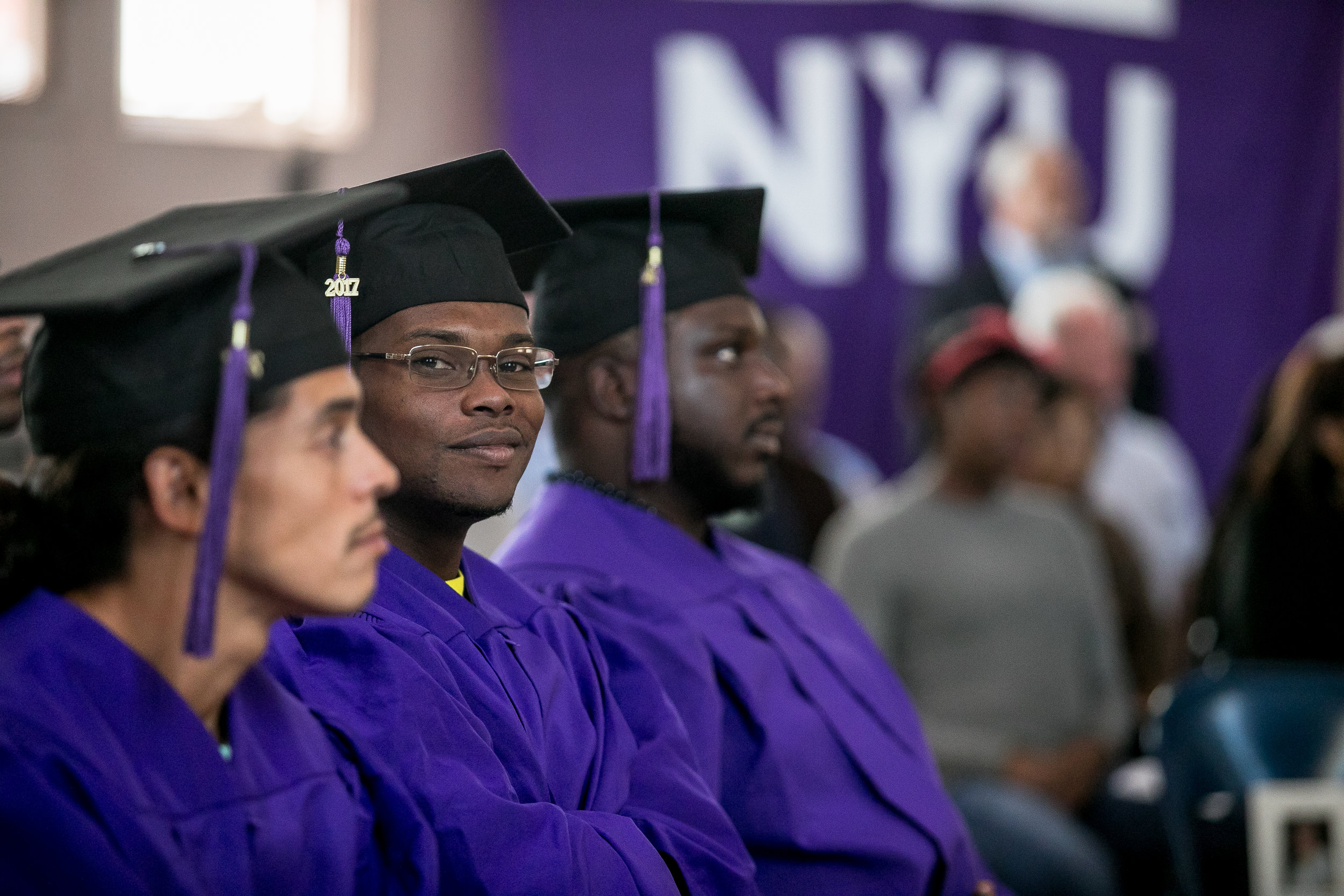 The graduates completed their coursework while incarcerated at Wallkill Correctional Facility.