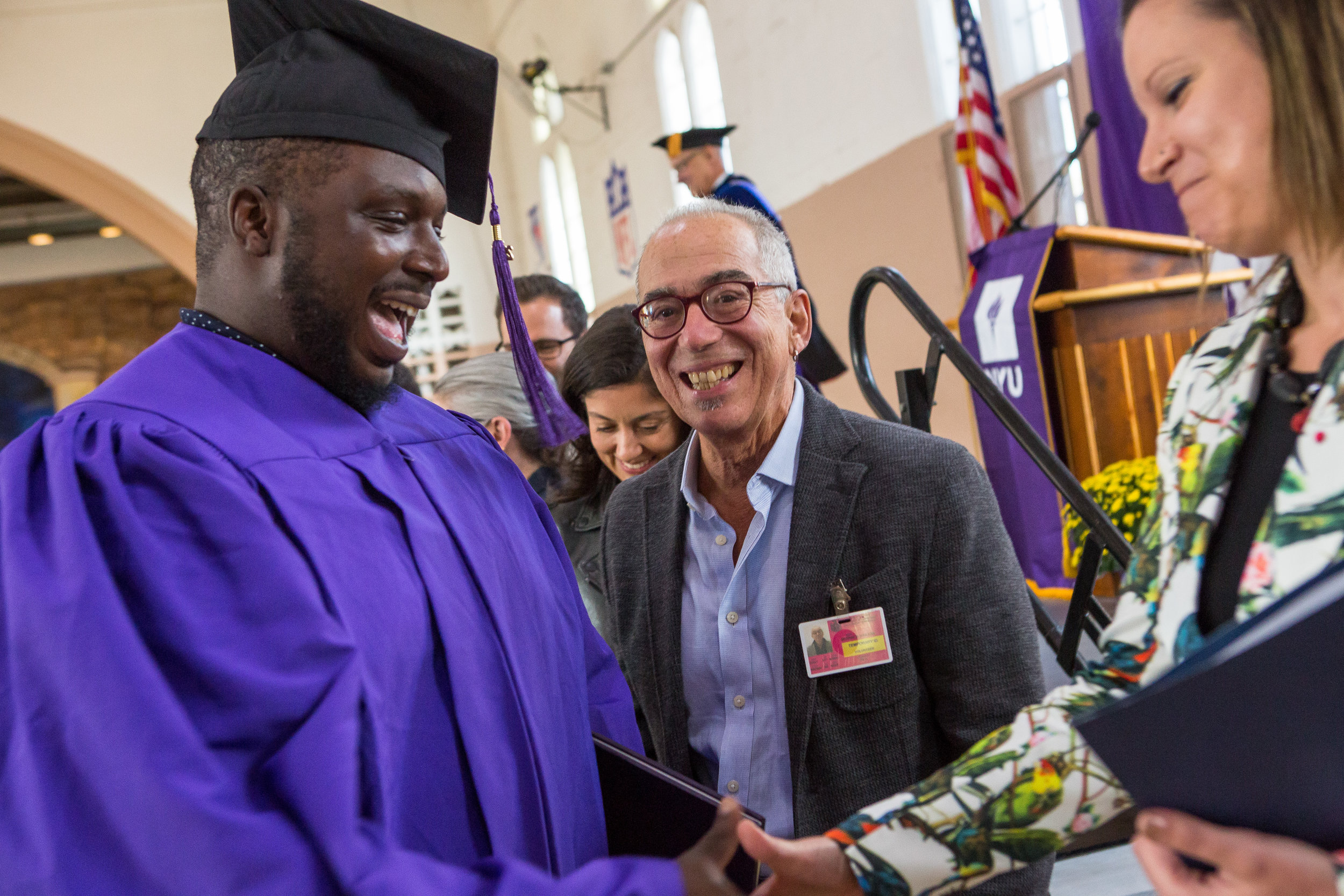 The program supports graduates like Ryan after they've been released by facilitating financial aid, credit-transfers and continuing education.