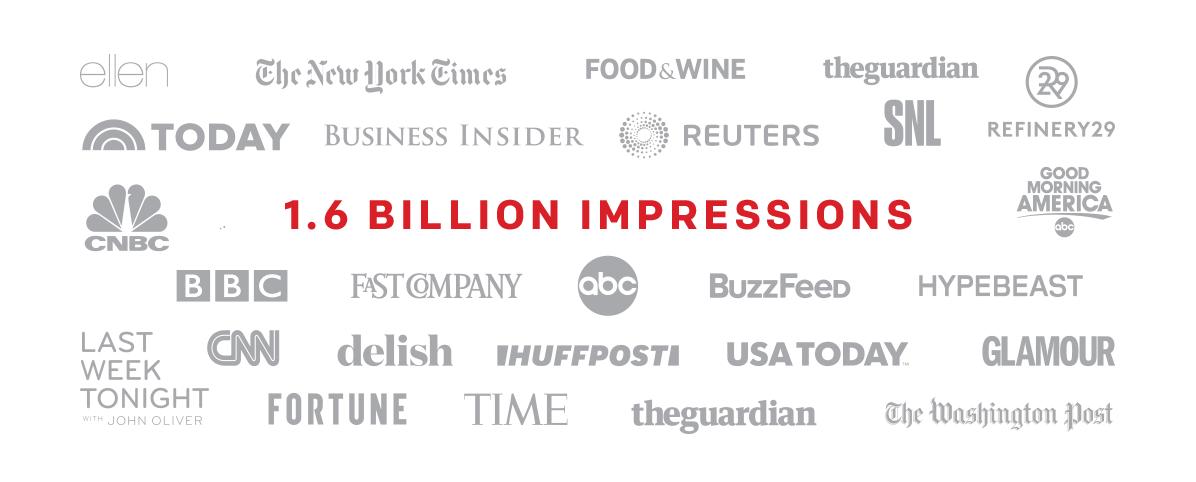 1.6 billion impressions
