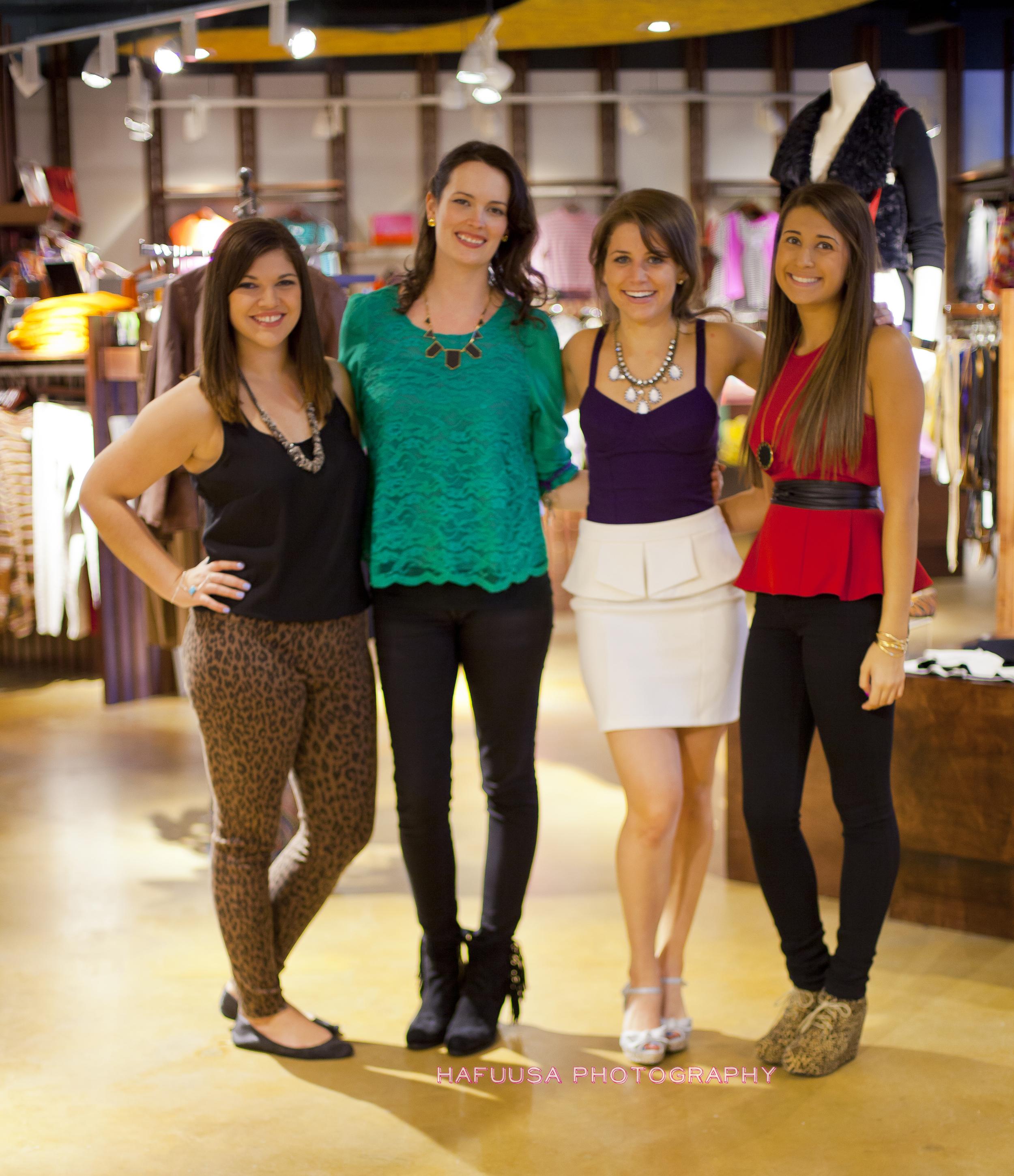 The SMU girls: Renee, Blair, Erica, and Gamze