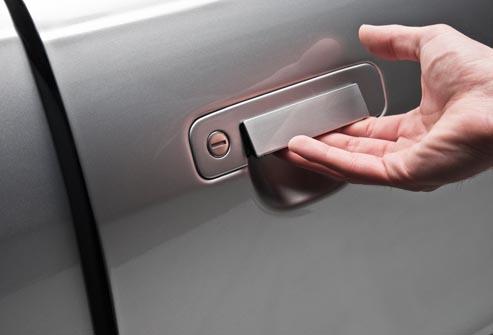 Open Car door slowly dents