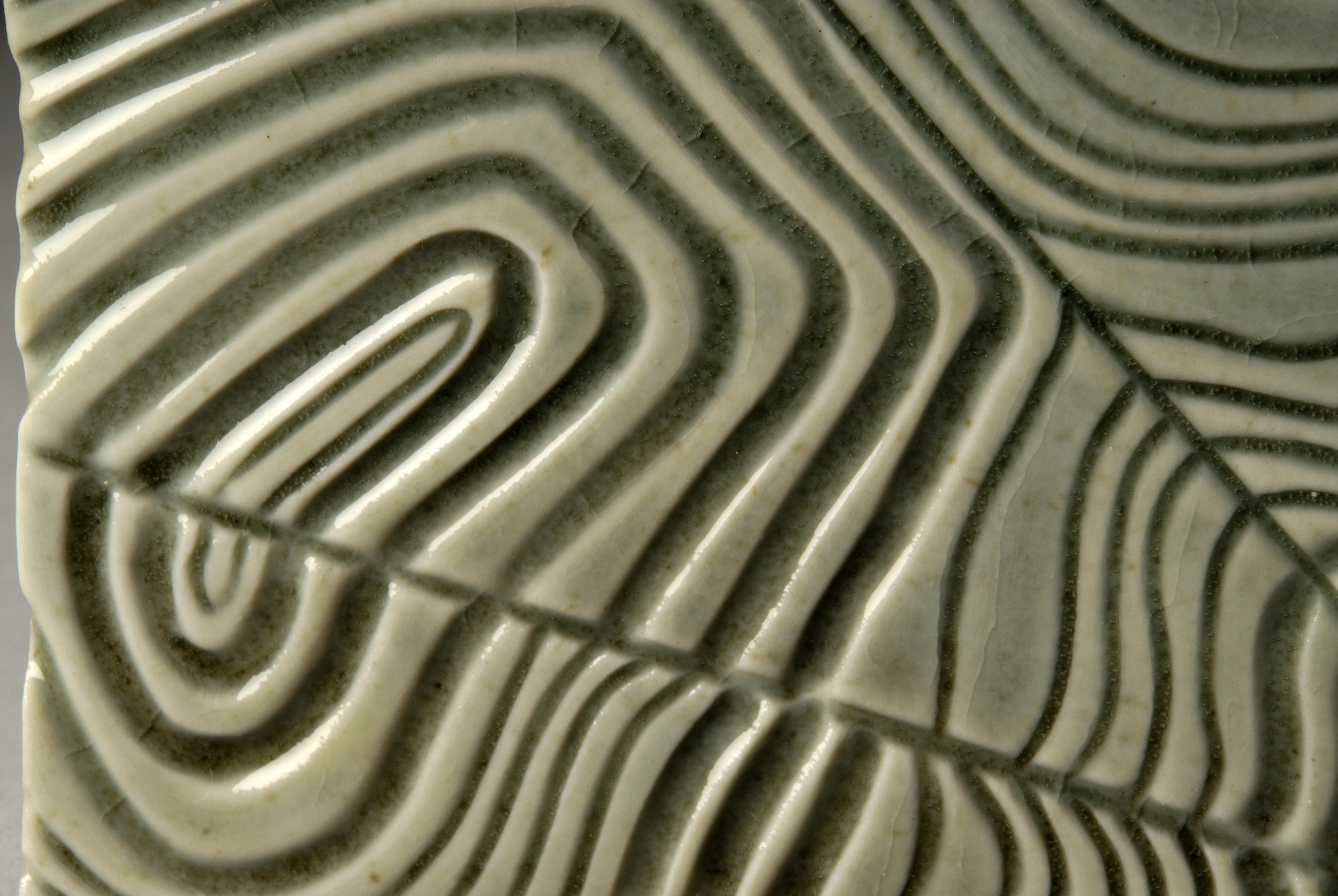 Carved Porcelain Tile (Detail)