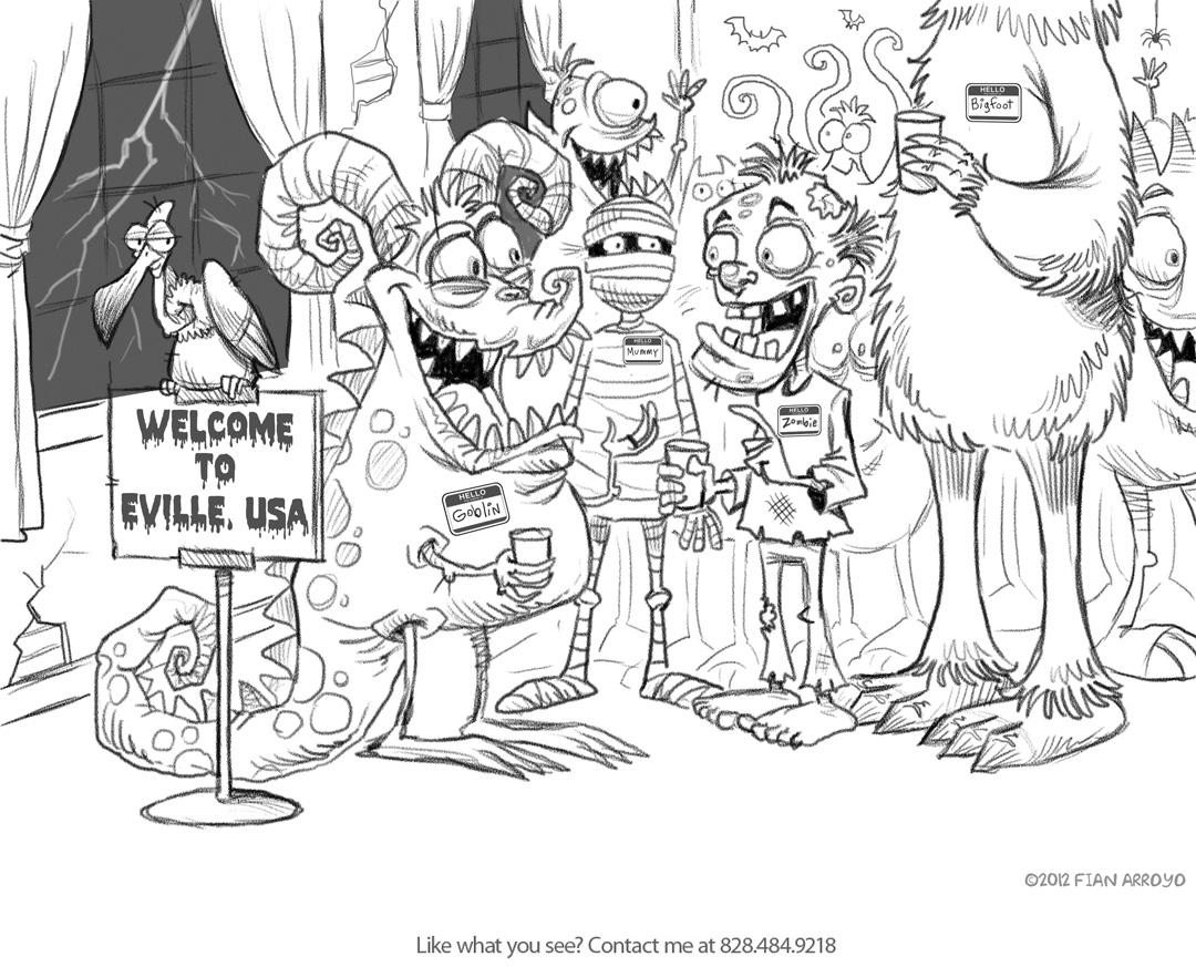 Eville Ebook Sketch