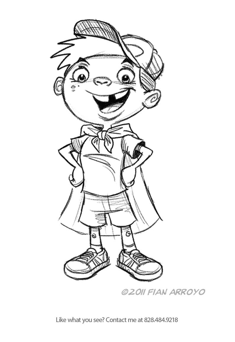 Super Boy Sketch