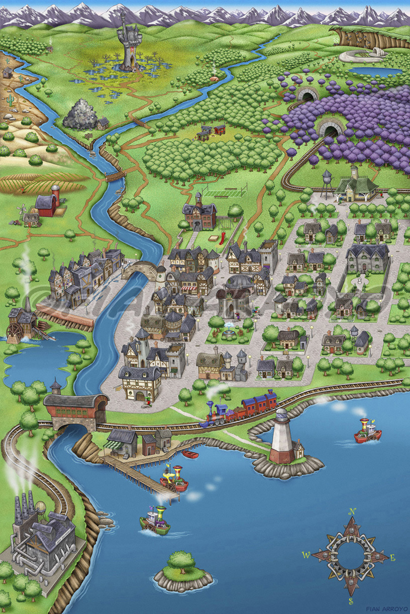 Buggville Fantasy Tour Map