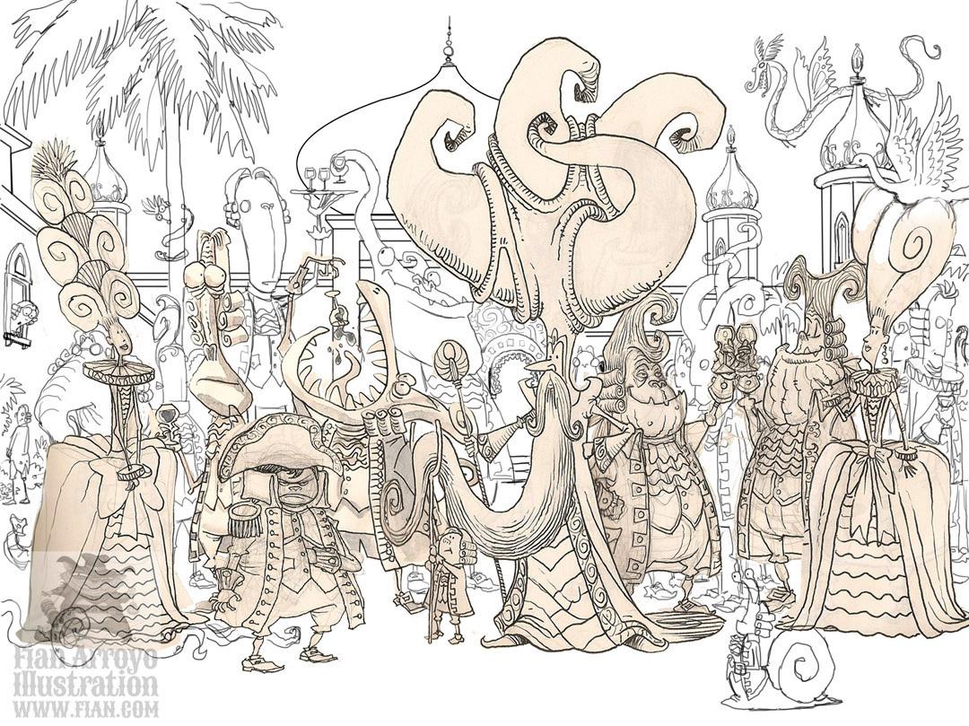 The Grand Vizier's Garden Party Sketch