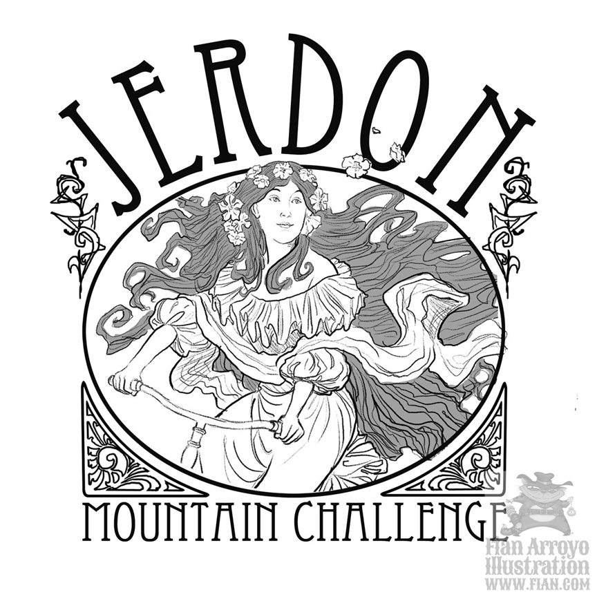 Jerdon Mountain Challenge Sketch