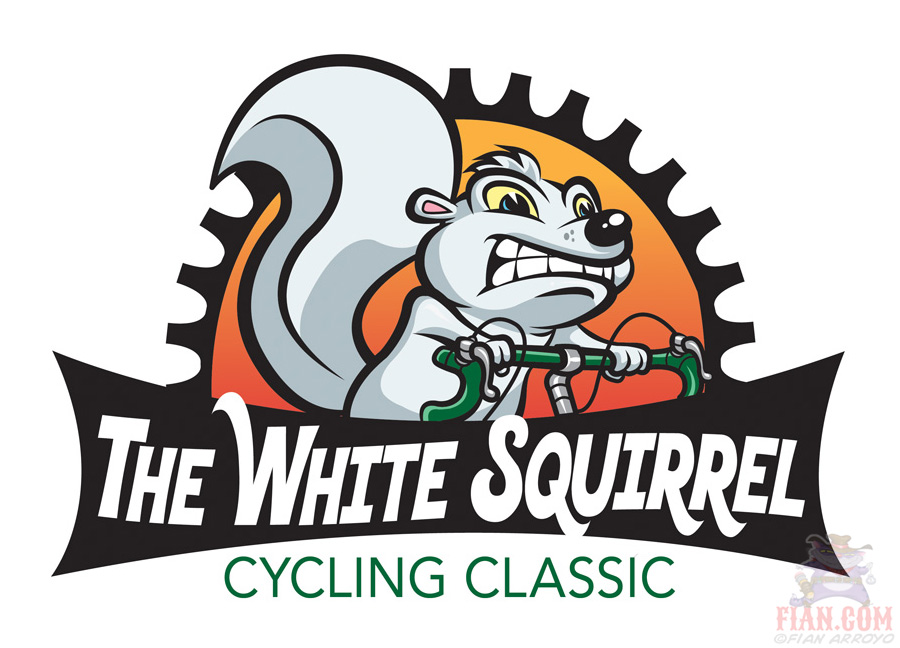 White Squirrel Logo Art