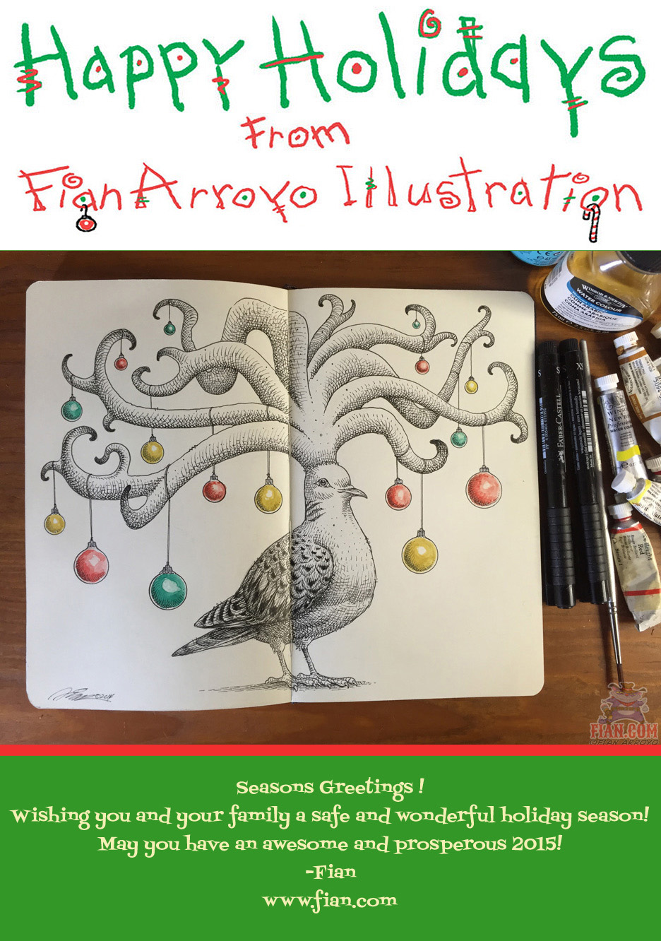 Doodling In The Holiday Season Illustration By Fian Arroyo