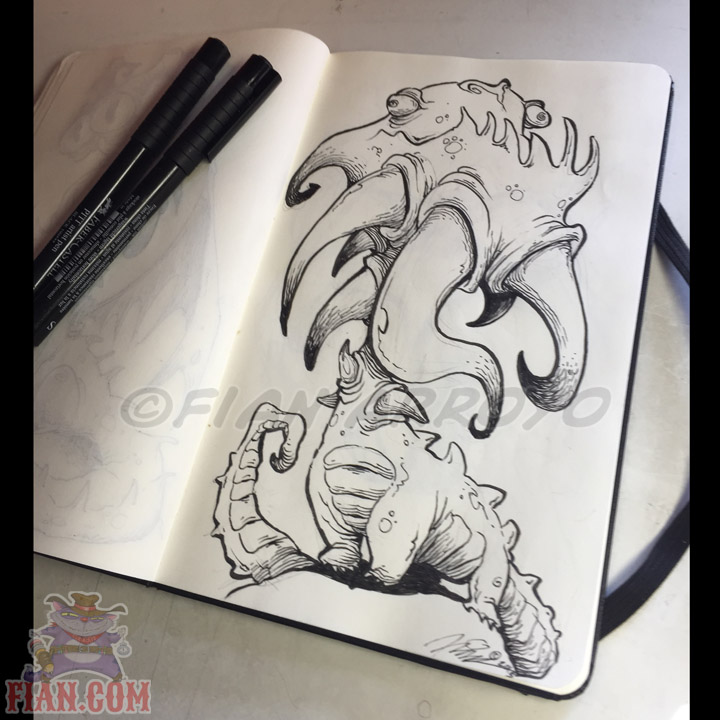 Dragon Doodle illustration By Fian Arroyo