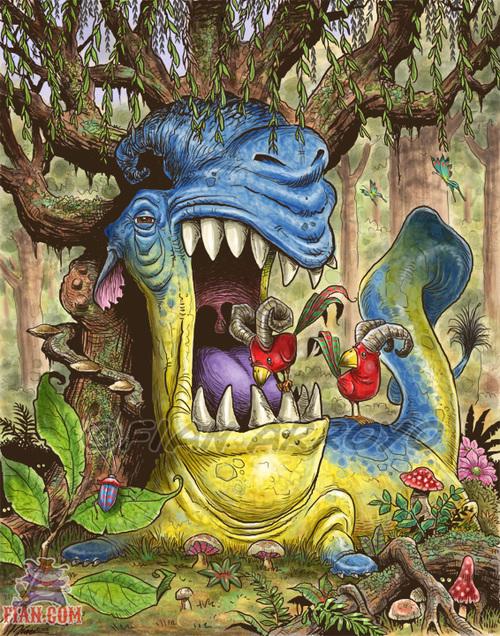Jabberwocky Monster illustration By Fian Arroyo