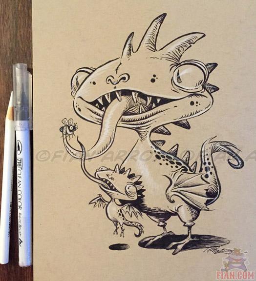 Inktober Drawing 9