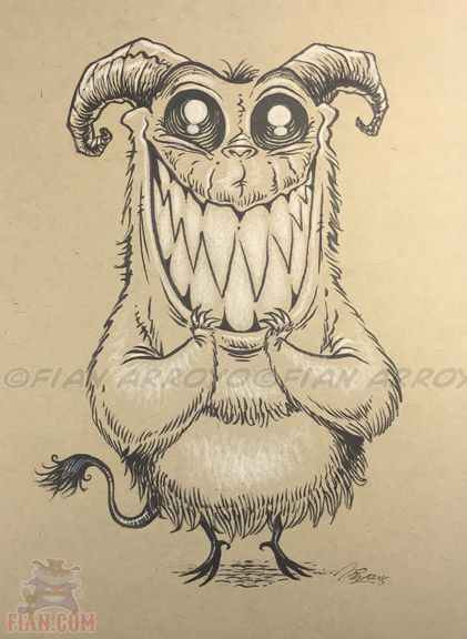 Inktober drawing 14...Halloween is almost here. EEEEEE!!!! :-)