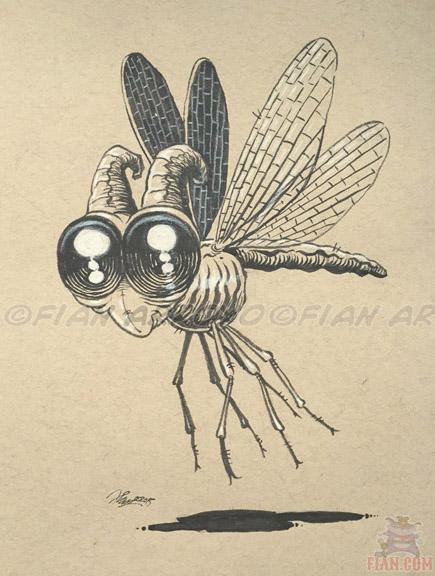 Inktober 14. Dragonfly