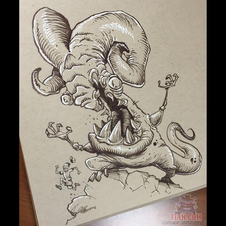Troll Hibernation Interruption Doodle