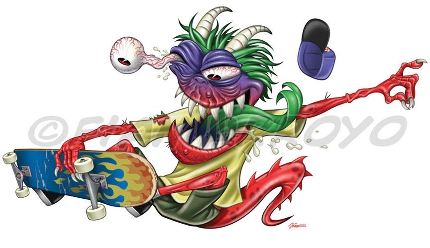 Skateboard Monster