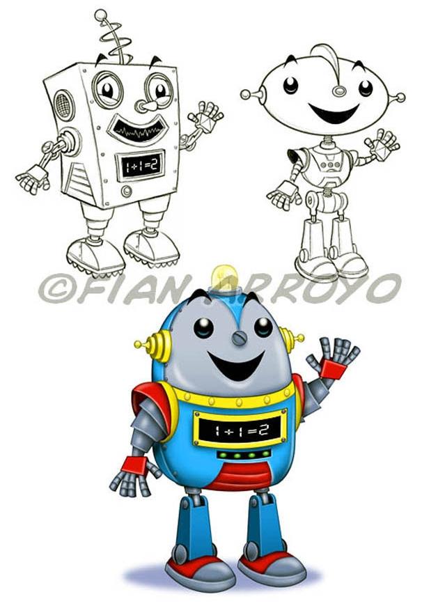 Math Robot Character Design