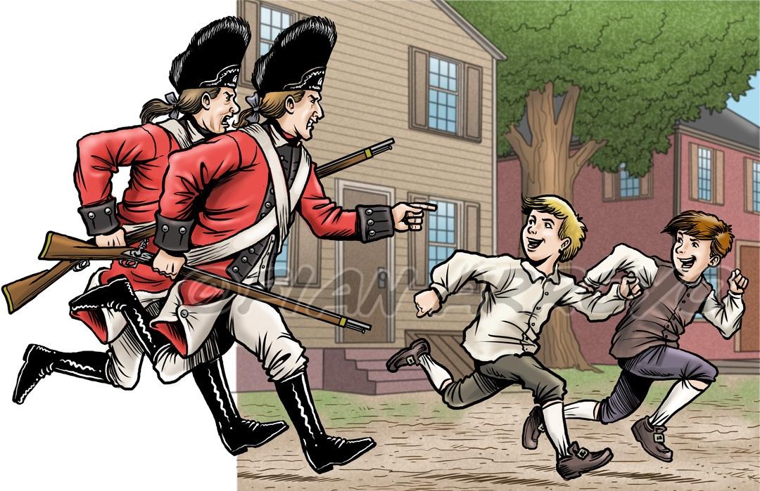 American Revolution Illustration