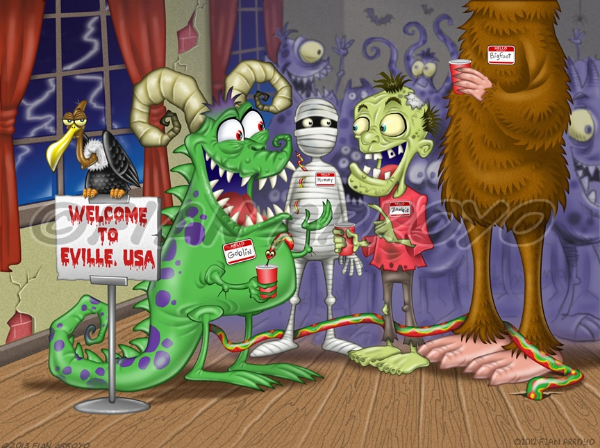 Eville Ebook Illustration