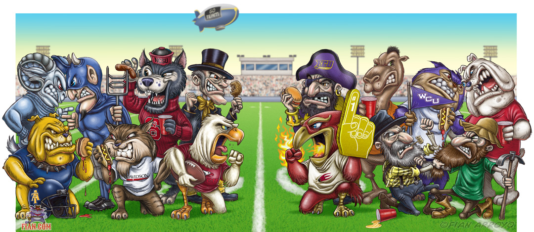 Tailgating NC College Mascots