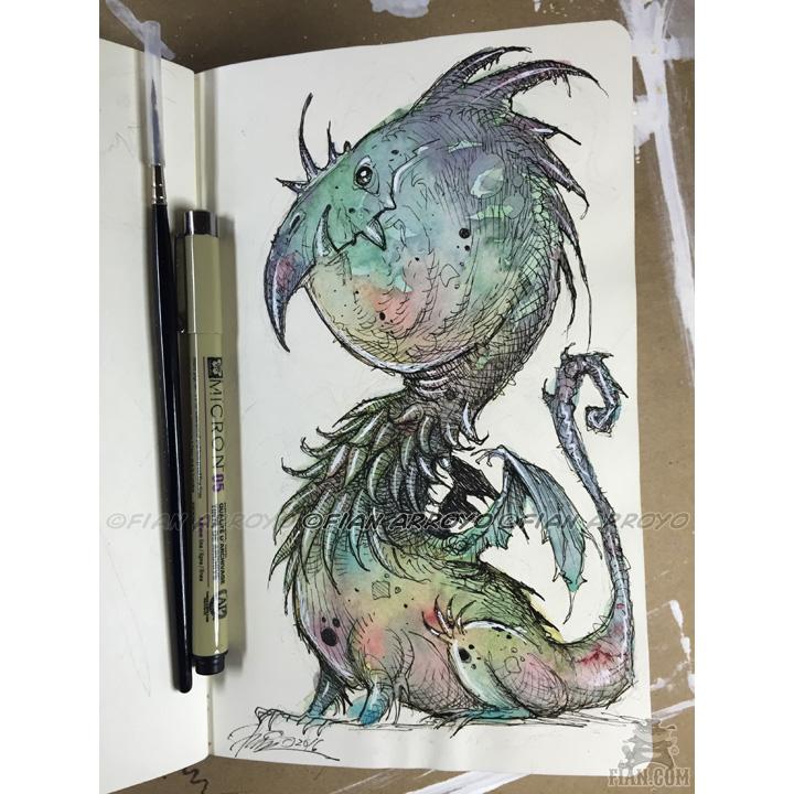 Dragon Watercolor Sketch