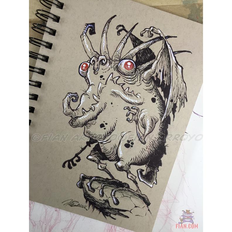 Howard Monster Doodle