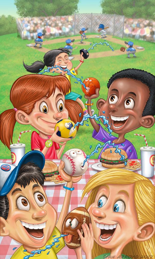 Toy Catalog Cover Illustration