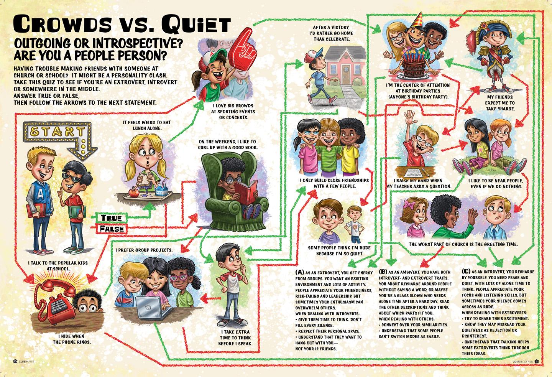 Kids Magazine Puzzle Illustration