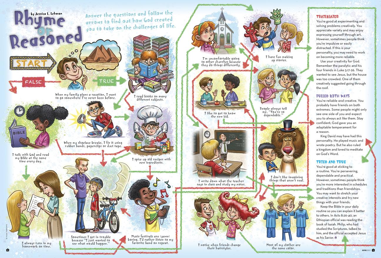 Clubhouse Magazine Puzzle Illustration