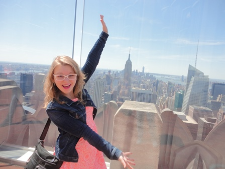 Tah-dah! I'm back! A recent snapshot of me in NYC.