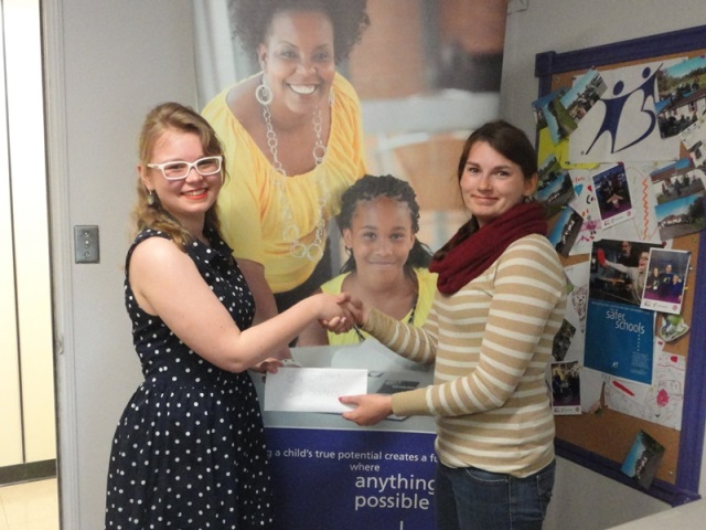 QAAW summer student Ally Loiselle (left) and Mentoring Coordinator of Big Brothers Big Sisters of the Annapolis Valley Jessica Atwell (right)