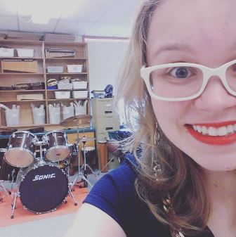 A quick selfie in the music room at Brooklyn District Elementary School!