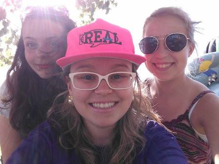Becky, me, and Claire down on the waterfront yesterday!