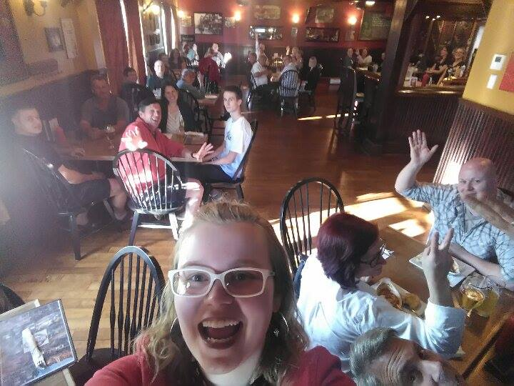Oh yeah, I *cough* may have also made everyone take a selfie with me at Trivia last Tuesday. Thanks, everyone! PHOTO CREDIT: Ally Loiselle