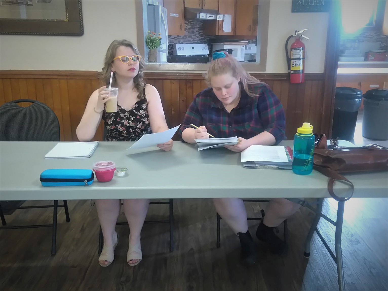 Myself and Morgandy cheesin' at the audition table.  Photo Credit: Kayleigh Alexander
