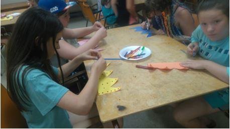 Hard at work crafting some crown props!  Photo credit: Ally Loiselle