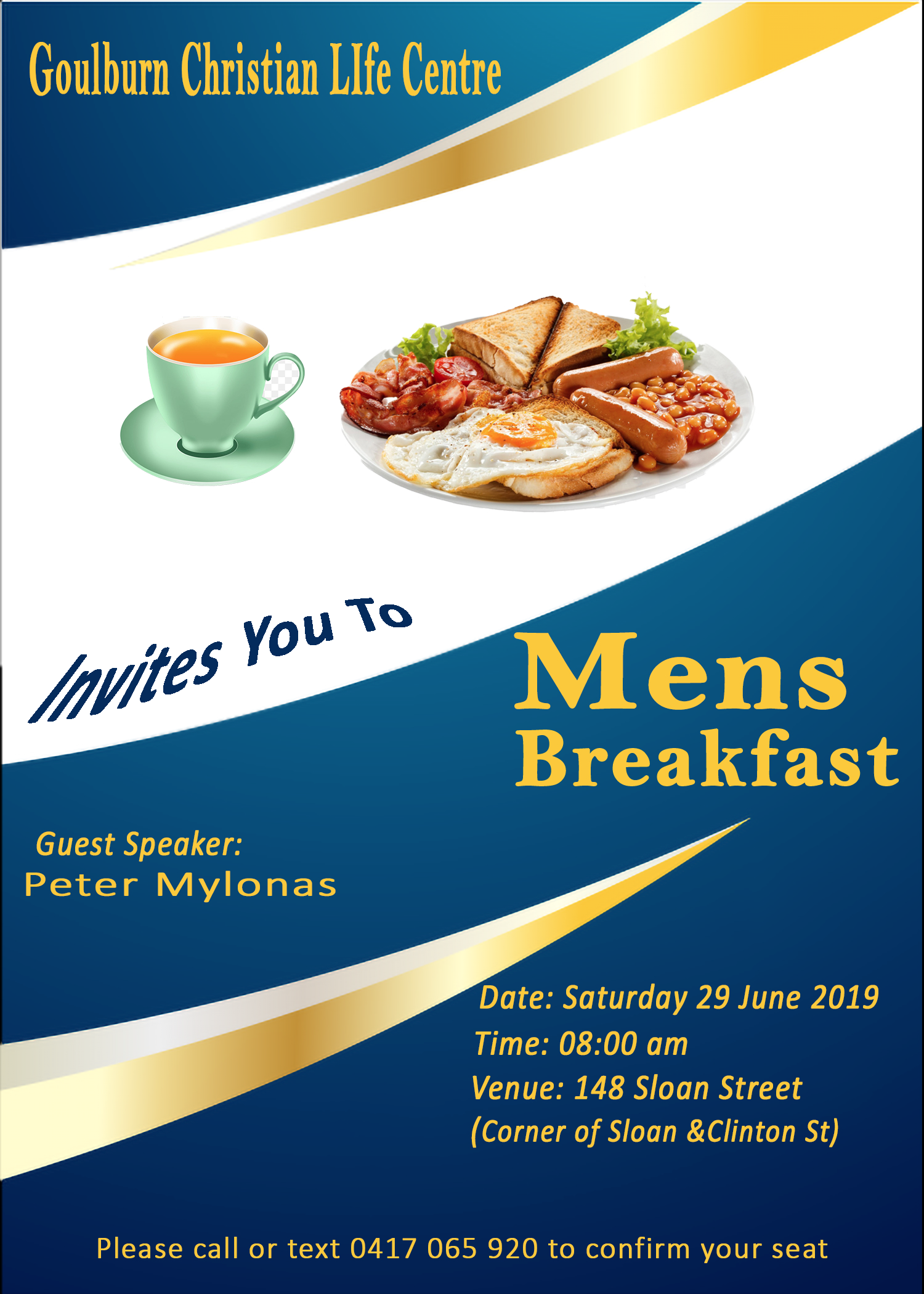 Golburn Christian Life Centre Mens Breakfast flyer.png