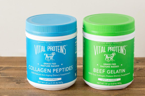 Click photo to be redirected: Collagen peptides and beef Gelatin (both unflavored)