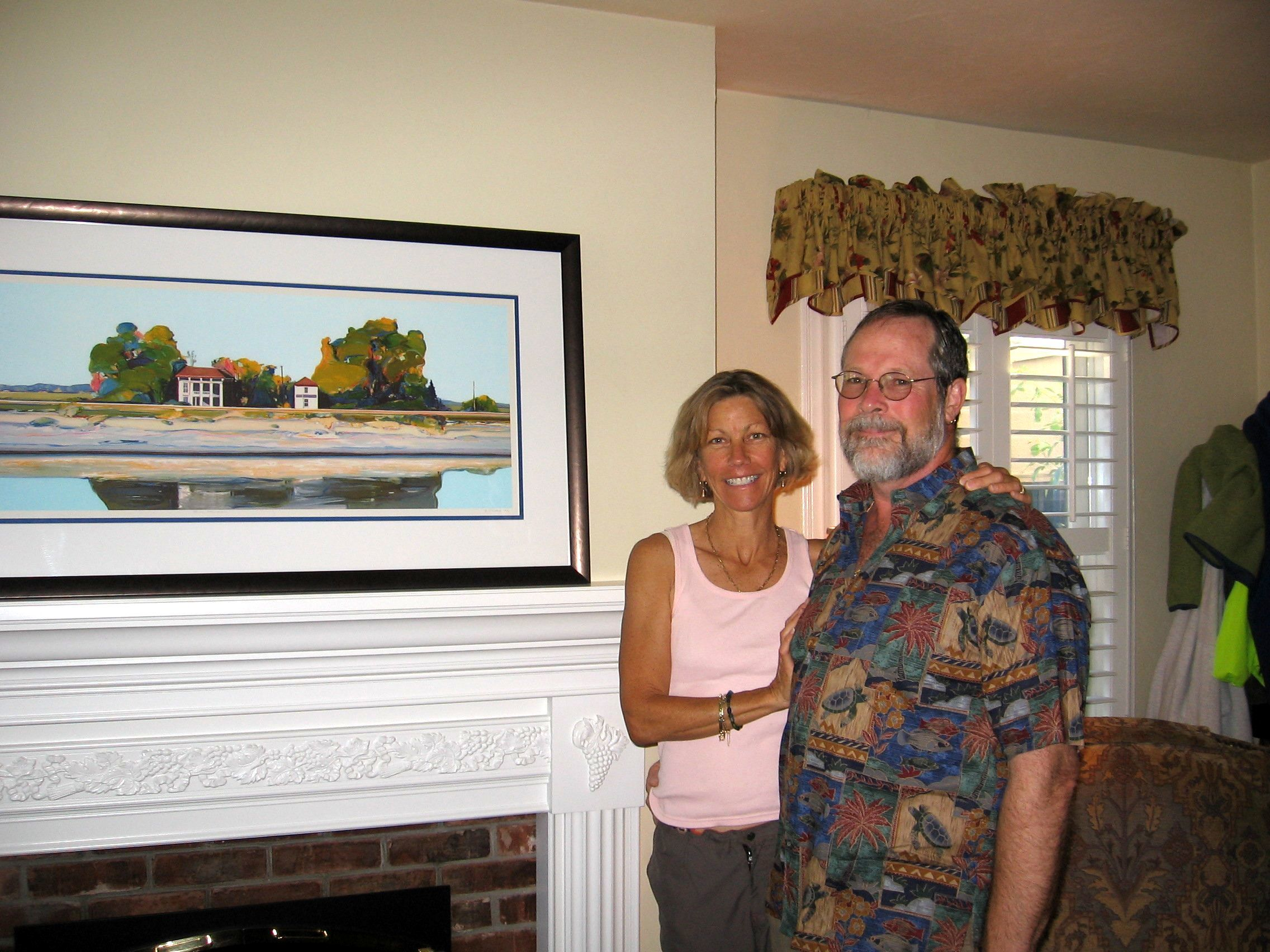 Happy collectors with their new Kondos Lithograph!
