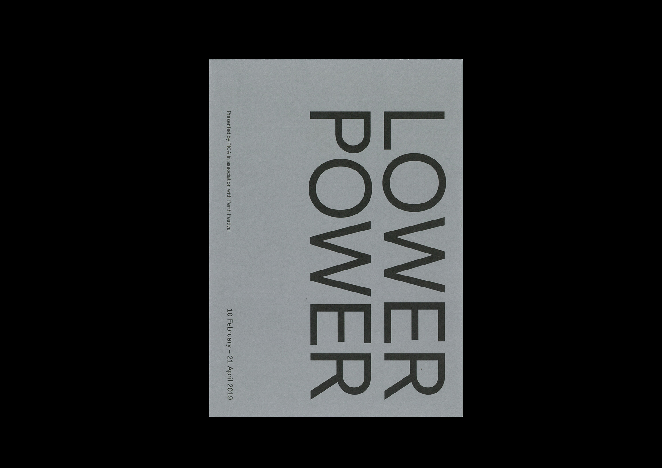 2019 Design and Direction For Melbourne artist Marco Fusinato's project at PICA 'Lower Power'