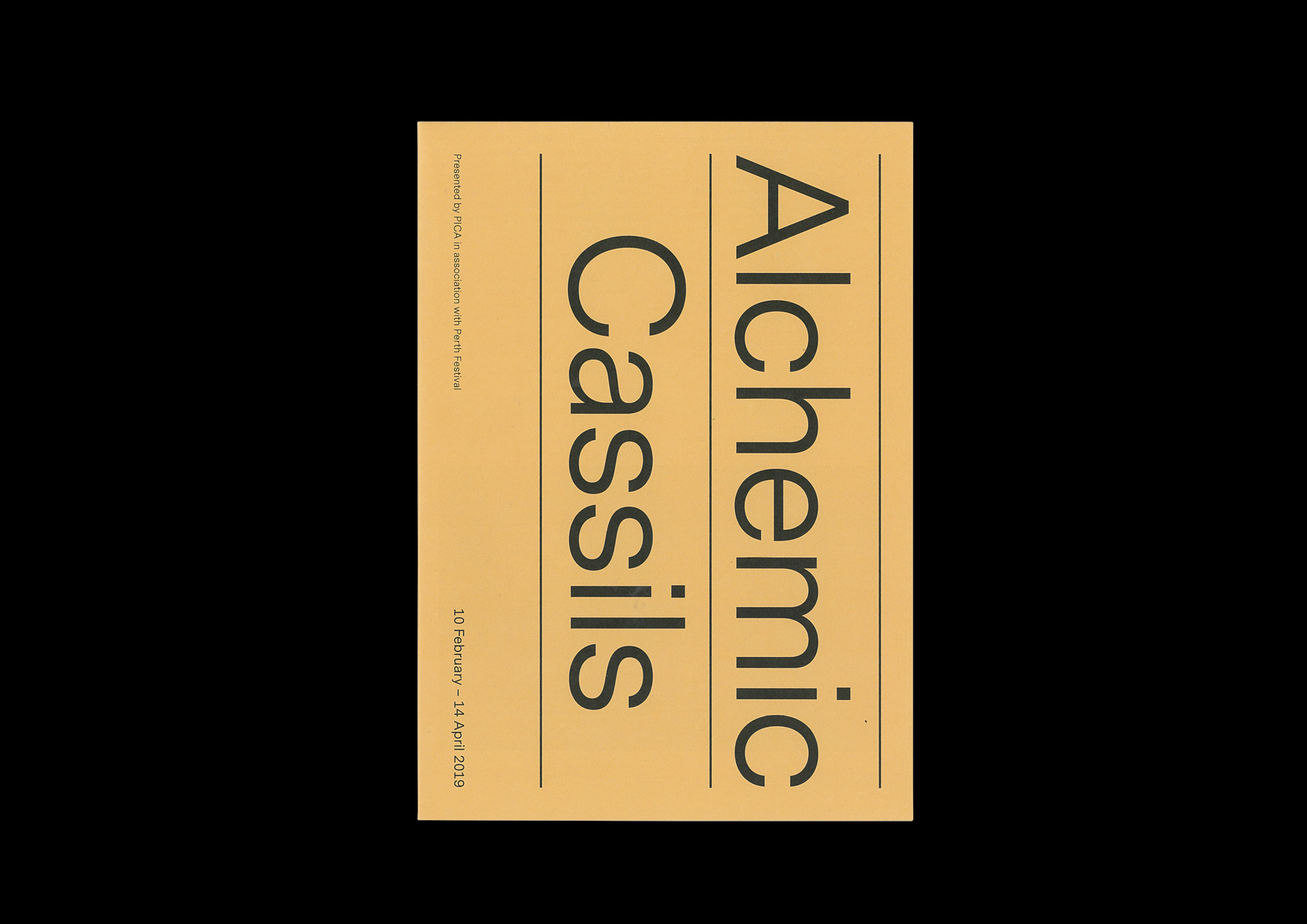 2019 Design and Direction For artist Cassils project at PICA 'Alchemic'