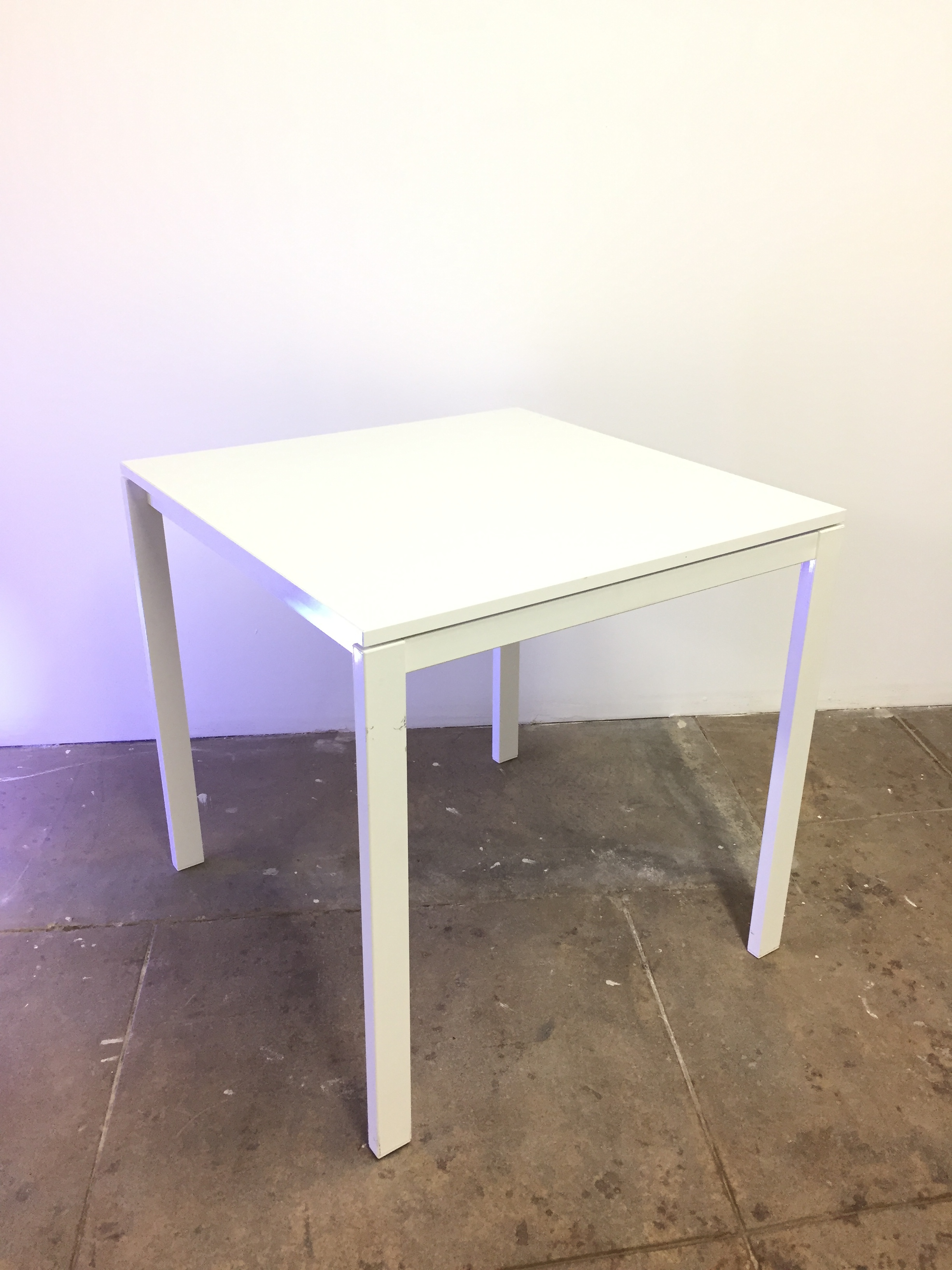 "Table 29.5"" square QTY:3 Price: $10"