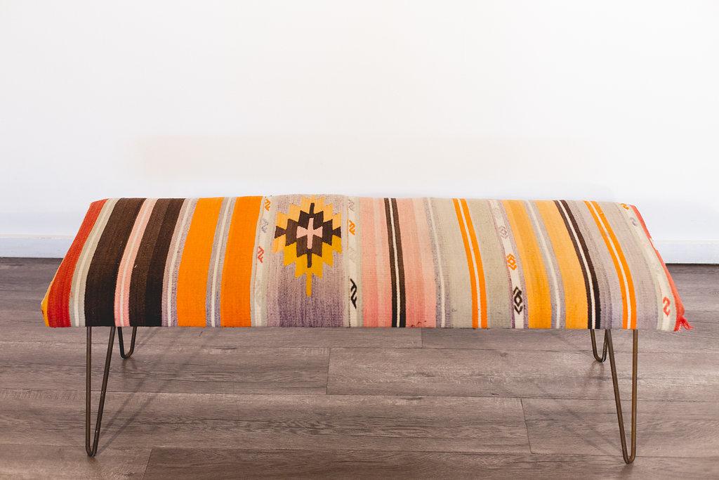 Custom made-in-LA print bench Quantity: 1 Price: $125