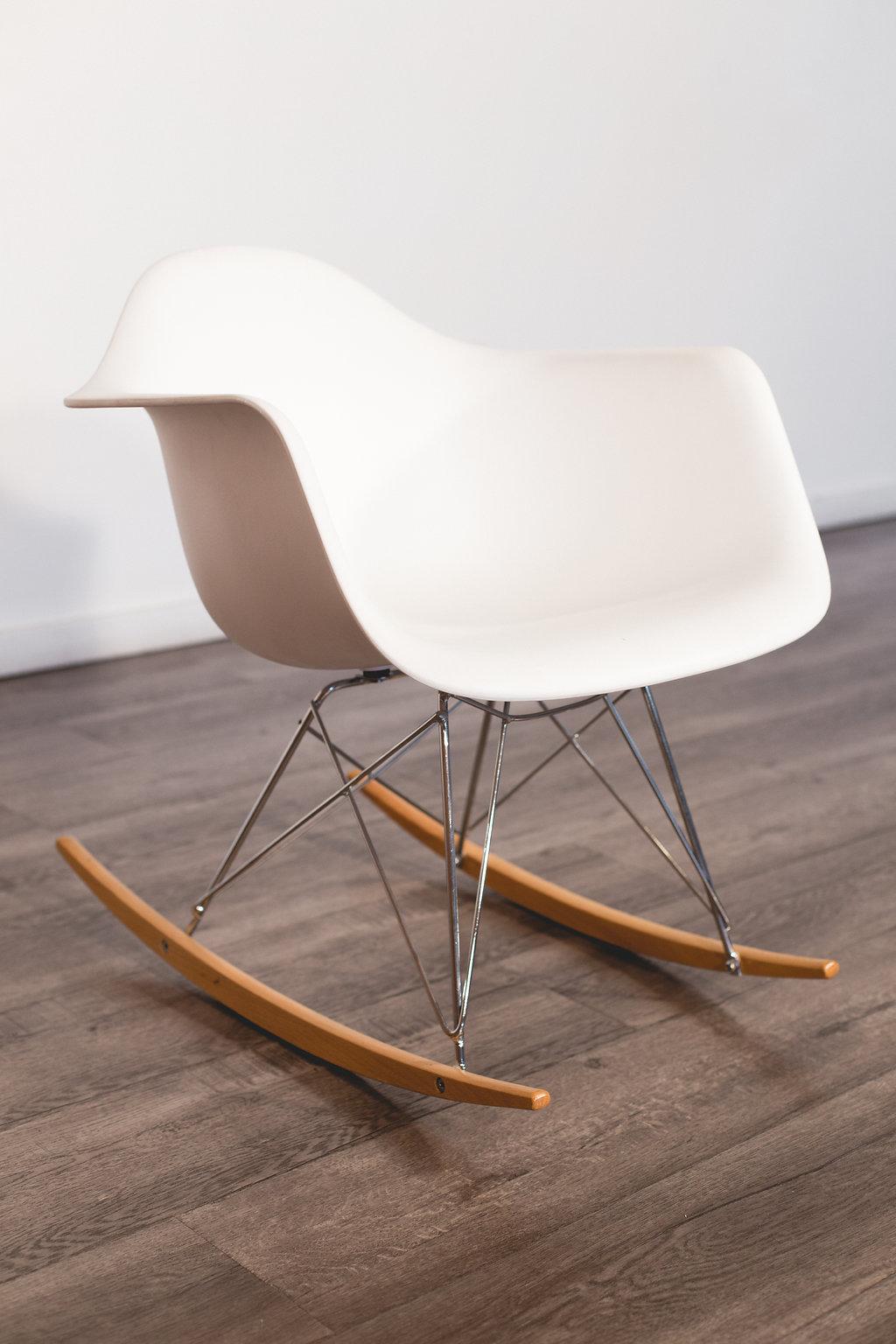 White Eames Style Rocking Chair Quantity: 2 Price: $30 EA