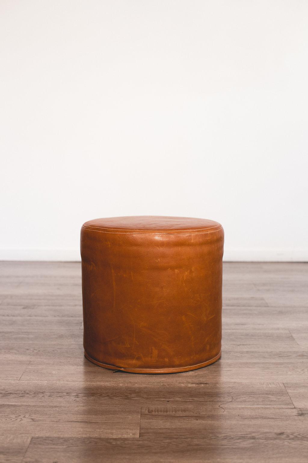 Brown Leather Ottoman Quantity: 1 Price: $60