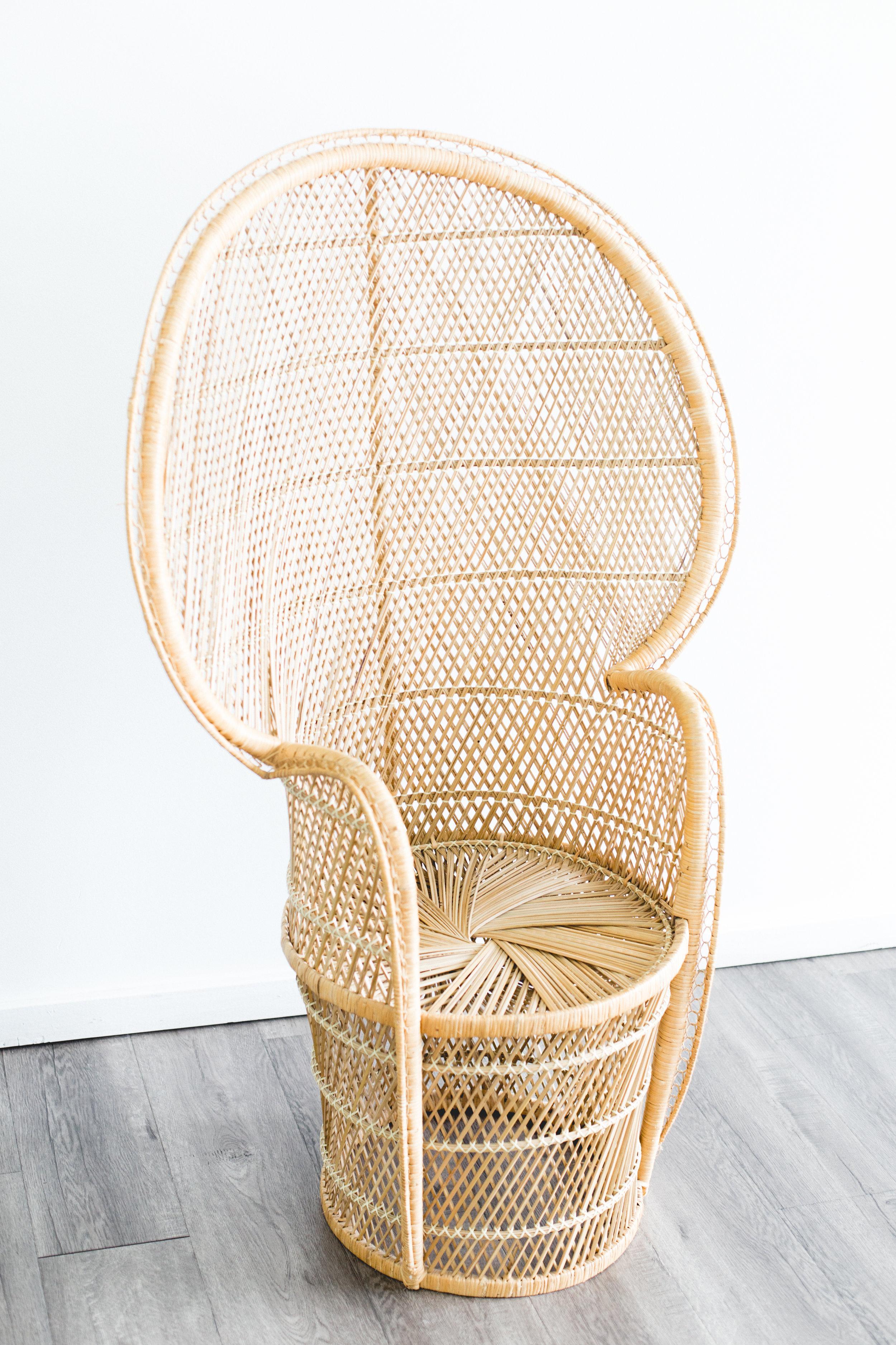 Vintage Rattan Peacock Chair Quantity: 2 Price: $100 EA