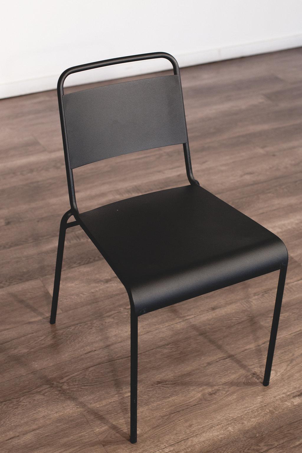 Black Metal Chair Quantity: 16 Price: $6 EA