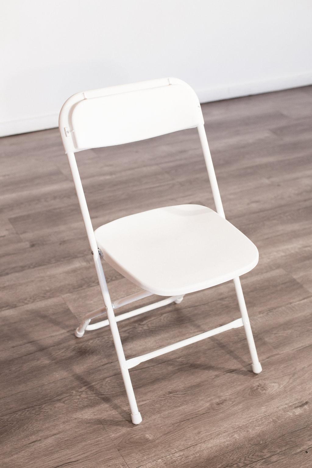 White Folding Chairs Quantity: 140 Price: $2 EA