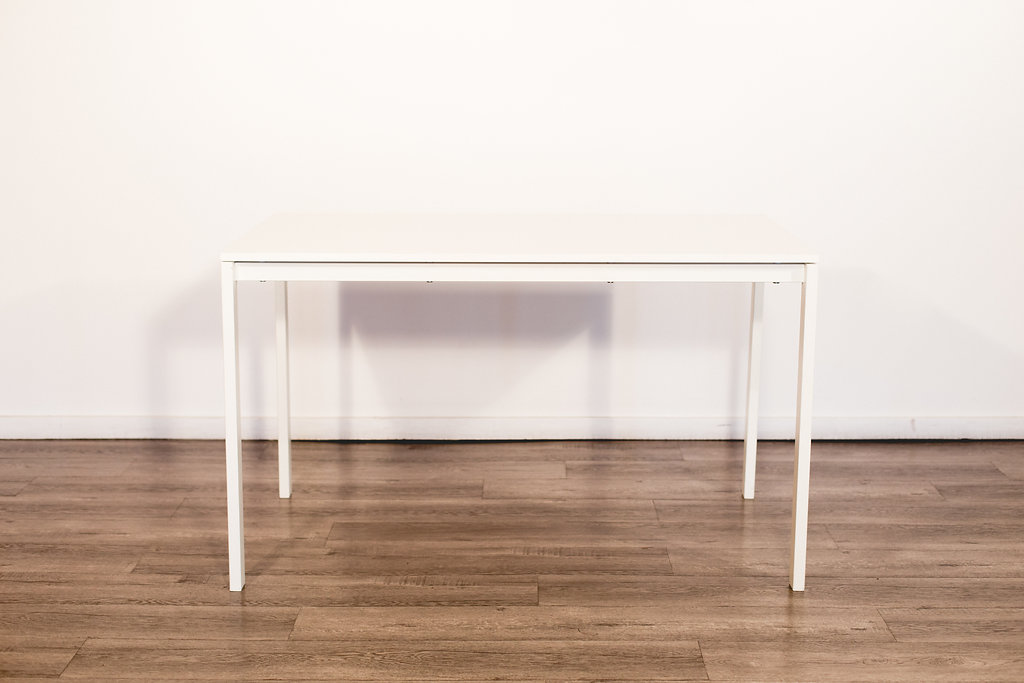 "White Rectangular Table 49""L 29.5W 23""T Quantity: 6 Price: $15 EA"